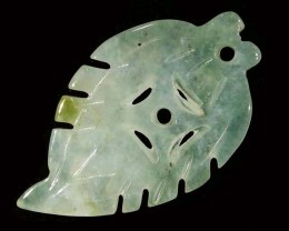 12.03 CTS JADE CARVING DRILLED -BURMA GRADE A [ST8147]