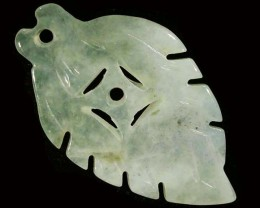 12.53 CTS JADE CARVING DRILLED -BURMA GRADE A [ST8149]