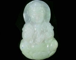 75.32 CTS JADE CARVING DRILLED -BURMA GRADE A [ST8173]