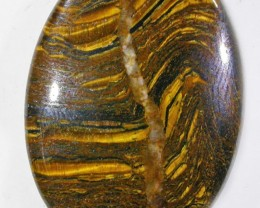 27 CTS TIGER EYE STONE  WITH HEMATITE -AUSTRALIA [ST8356]