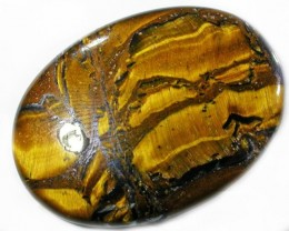 32.7 CTS TIGER EYE STONE  WITH HEMATITE -AUSTRALIA [ST8366]