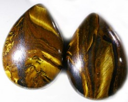 15.9 CTS TIGER EYE PARCEL  WITH HEMATITE -AUSTRALIA [ST8371]