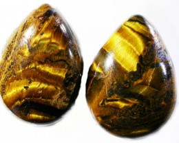 19 CTS TIGER EYE PARCEL  WITH HEMATITE -AUSTRALIA [ST8374  ]