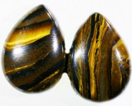20.5CTS TIGER EYE PARCEL  WITH HEMATITE -AUSTRALIA [ST8376 ]
