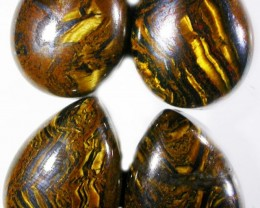 42.6 CTS TIGER EYE PARCEL  WITH HEMATITE -AUSTRALIA [ST8380]