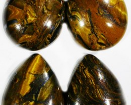 39.5 CTS TIGER EYE PARCEL  WITH HEMATITE -AUSTRALIA [ST8382]