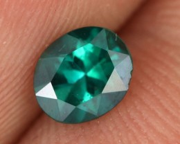 0.72 CTS EMERALD GREEN - SURFACE TREATED TOPAZ (TPZ26)