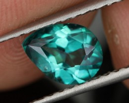 1.31 CTS EMERALD GREEN - SURFACE TREATED TOPAZ (TPZ37)