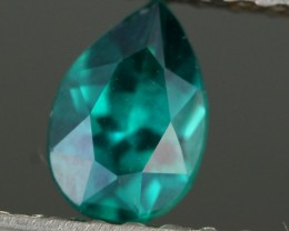 0.66 CTS EMERALD GREEN - SURFACE TREATED TOPAZ (TPZ45)