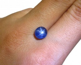 Near Royal Blue Transparent Unheated Star Sapphire 3.13 Cts