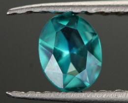 0.38 CTS EMERALD GREEN - SURFACE TREATED TOPAZ (TPZ54)