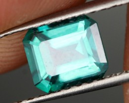 1.57 CTS EMERALD GREEN - SURFACE TREATED TOPAZ (TPZ57)