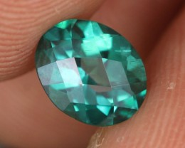 1.35 CTS EMERALD GREEN - SURFACE TREATED TOPAZ (TPZ59)