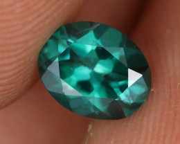 1.13 CTS EMERALD GREEN - SURFACE TREATED TOPAZ (TPZ66)