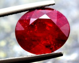 5.65ct Natural Blood RED RUBY MADAGASCAR Oval Cut