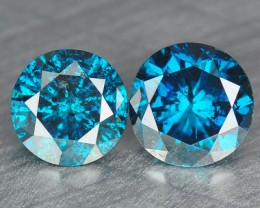 NATURAL BLUE DIAMOND-2.80MM,0.18 CTS, 2PCS NR