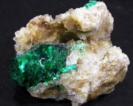 31.4 CTS DIOPTASE SPECIMEN-EMERALD GREEN [ST8428]