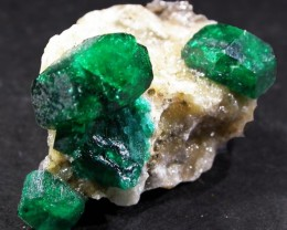 14.0 CTS DIOPTASE SPECIMEN-EMERALD GREEN [ST8424]