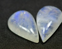 SALE FROM $130 Pair 20mm drop pear moonstone cabochon AA