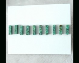 Natural Turquoise Beads Set,14x4mm,7.3g