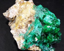 45.3 CTS DIOPTASE SPECIMEN-EMERALD GREEN [ST8504]