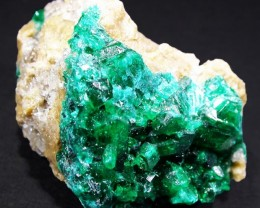 56.8 CTS DIOPTASE SPECIMEN-EMERALD GREEN [ST8508]
