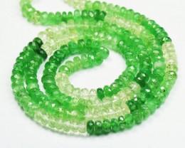 """18"""" 4mm faceted beads Tsavorite & Mali green Garnet TS001"""
