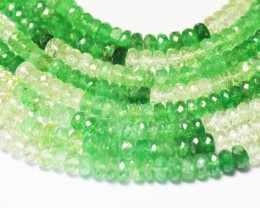 """9"""" 4mm faceted beads Tsavorite & Mali green Garnet TS001"""