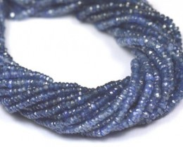 2mm 3mm SAPPHIRE faceted beads natural HEAT ONLY 15in SA002