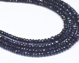 "SALE 8"" 2mm 4mm SAPPHIRE dark blue faceted beads AAA SA003"