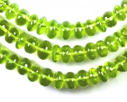 "SALE 16"" green PERIDOT 6mm - 8mm smooth beads AAA PER006"