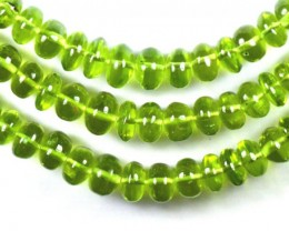 "SALE 4"" 6mm - 8mm Peridot smooth beads AAA PER006"