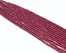 4IN 2mm to 3mm Ruby roundelle smooth beads AAA RUB002