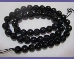 AAA EXQUISITELY CHATOYANT NATURAL BLUE TIGER EYE BEAD STRAND