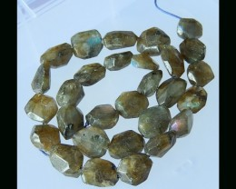 14X14X5 MM Faceted Labradorite Loose Bead Strands - 40CM
