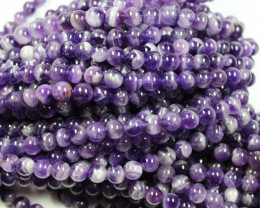 AMETHYST STRAND OF BEADS 8 MM ROUND -  16 INCHES LENGHT