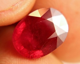 6.3 Carat VS2 Cherry Ruby - Beautiful Gemstone