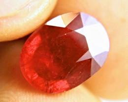 6.3 Carat VS2 Cherry Ruby - Beautiful Gemstone