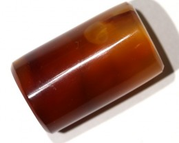 """30.28 CTS AGATE TUBES """"FOSSIL BAMBOO"""" [MX3213]"""