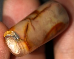 """29.60 CTS AGATE TUBES """"FOSSIL BAMBOO"""" [MX3221]"""