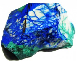 37.59 CTS AZURITE+ MALACHITE  ROUGH -RUSSIA [F5082]