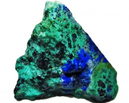 54.00 CTS AZURITE+ MALACHITE  ROUGH -RUSSIA [F5095]