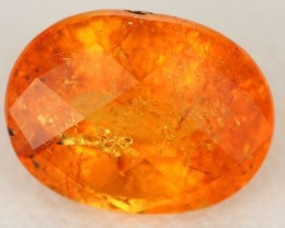 2.54ct CERTIFIED OVAL CHECKERBOARD NATURAL SPESSARTITE GARNET GEM AFRICA