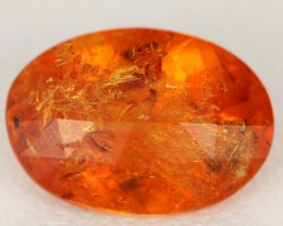 4.01ct CERTIFIED OVAL CHECKERBOARD NATURAL SPESSARTITE GARNET GEM AFRICA