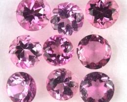 1.15 Cts Natural Pink Tourmaline -3MM, 9PCS, NR
