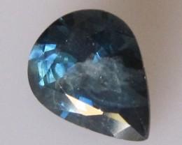 1.62cts Natural Blue Australian Sapphire Pear Cut