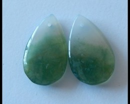 Unique Moss Agate!!!Moss Agate Earring Beads Fashion Drop Gemstone Earring