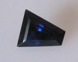 0.68cts Natural Blue Australian Sapphire Tapper Cut Cut