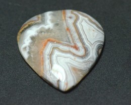 32mm drop shape Mexican Lace Agate AAA Gemstone 32 by 33 by 5mm