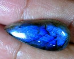 14.25Cts. A+ NATURAL CHATOYANT LABRADORITE PEAR CABOCHON BLUE FLASHING GEMS
